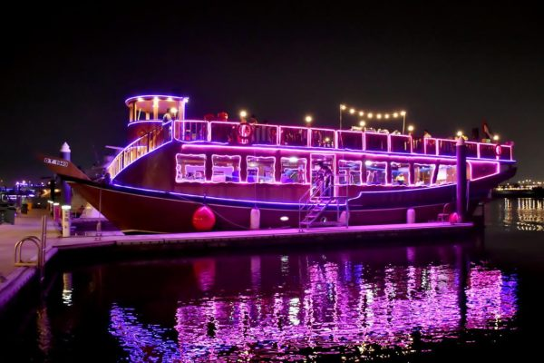 Water canal cruise dinner